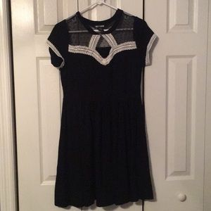 Hot topic babydoll lace mesh skater dress